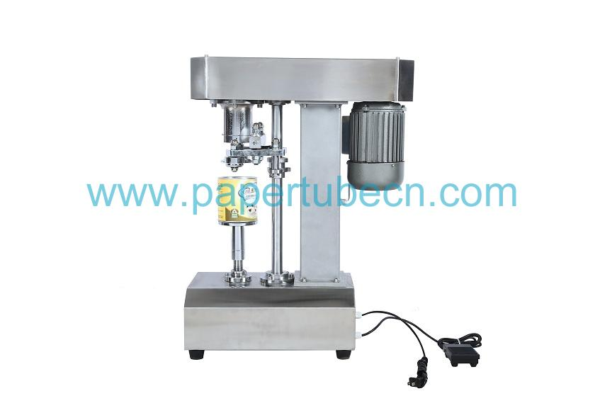 Silver Stainless Steel Table Type Electric Manual Can Sealing Machine
