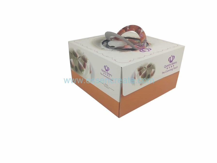 Birthday Cake Foldable Corrugated Packaging Cardboard Box