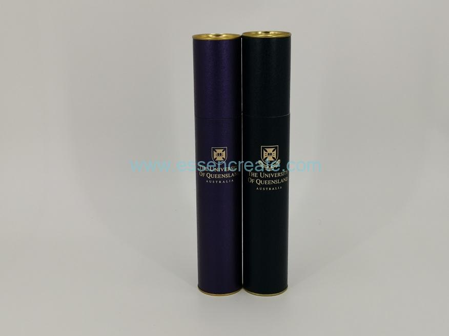 Paper Tube with Tin Top and Bottom