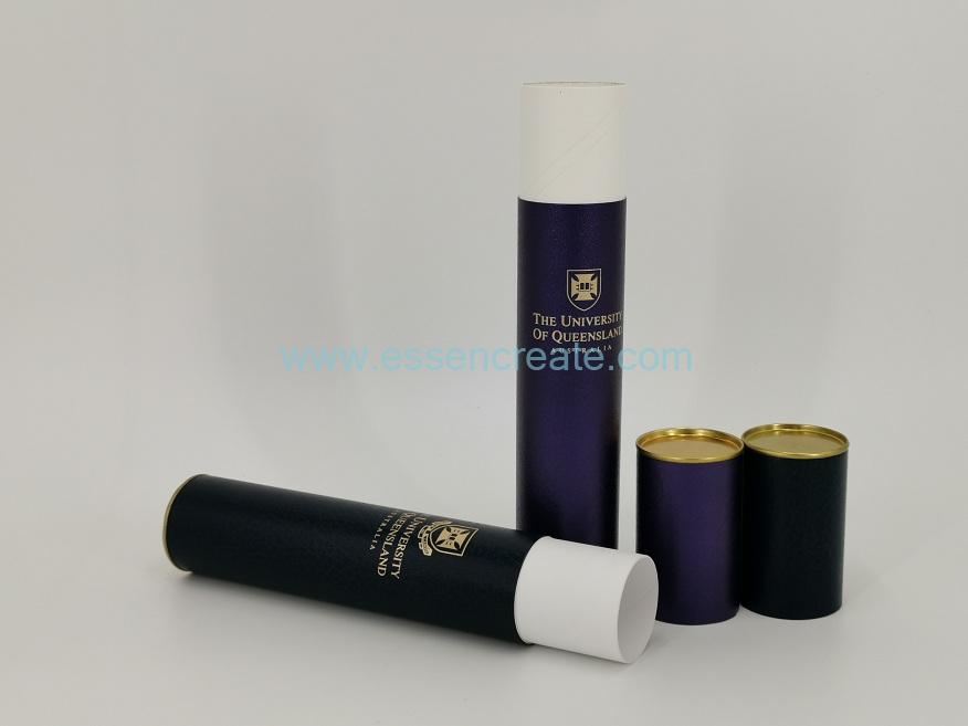 White Card Paper Tube with Tin End
