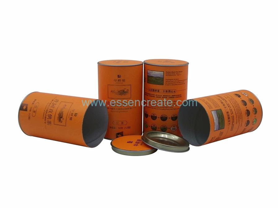 Concave-Convex Tin Paper Canister