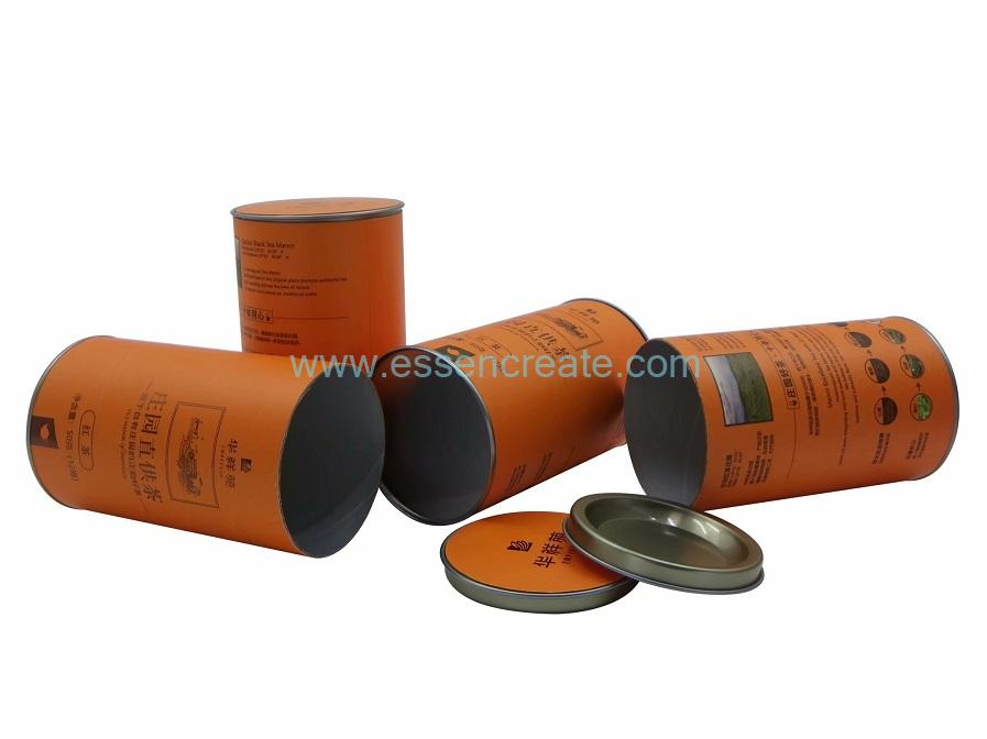 Paper Tube with Bump Metal End