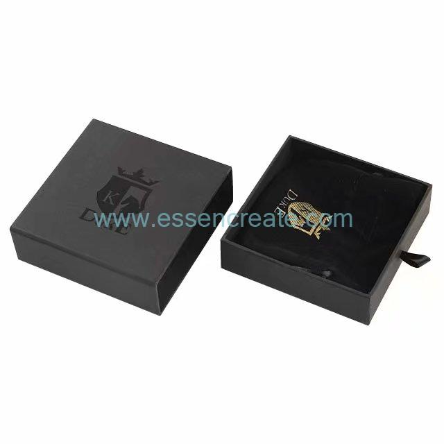 Black Sliding Drawer Gift Box for Bracelets Packaging