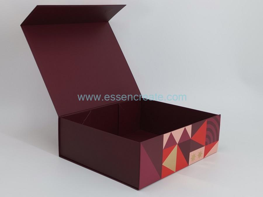 Magnetic Closure Foldable Christmas Gift Chocolate Packaging Box