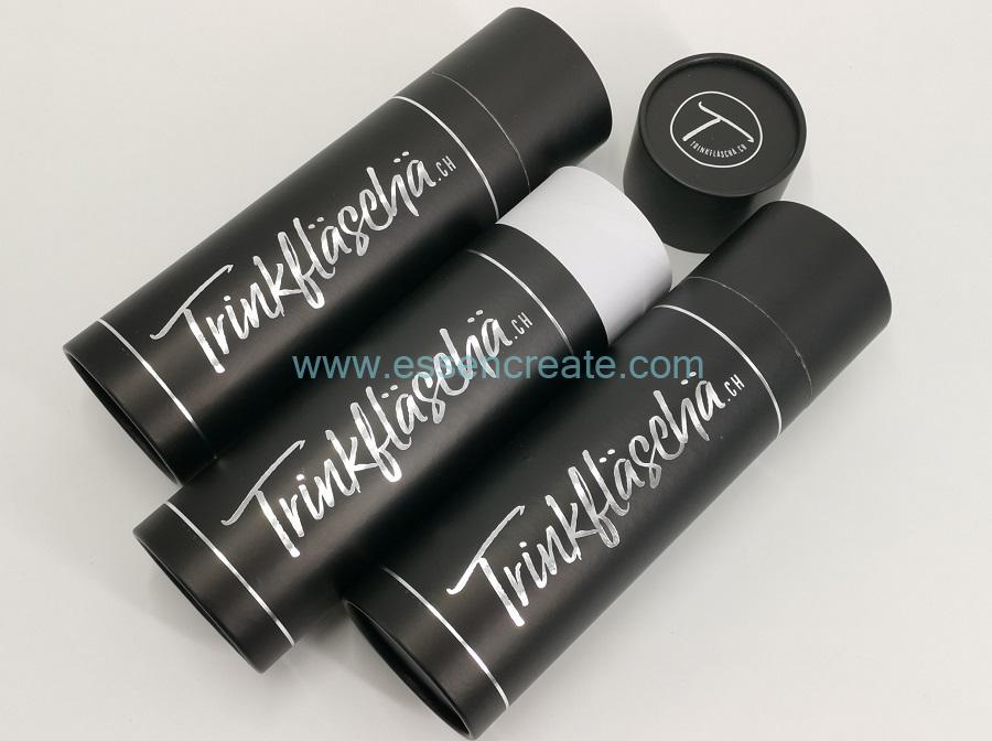 Rolled Edge Black Paper Tube