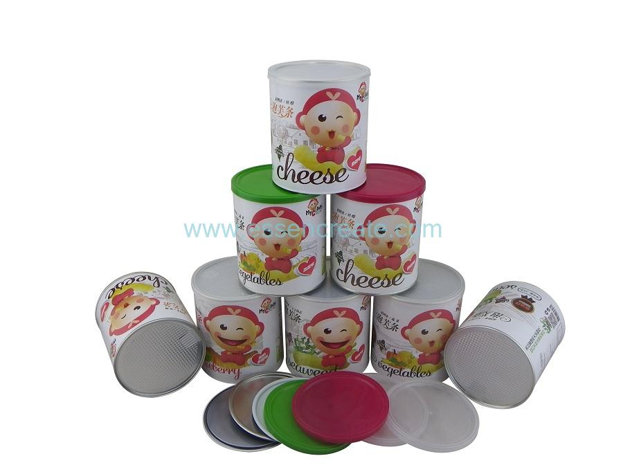 Paper Al Foil liner Composite Puff Packaging Cans