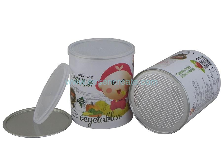 Puff Packaging Paper Canister