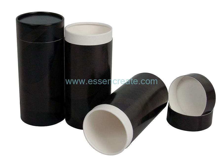 White Card Tea Packaging Paper Round Cardboard Tube