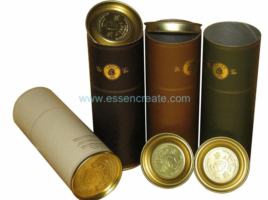 Embossing Logo Metal Tin XO Wine Paper Tube