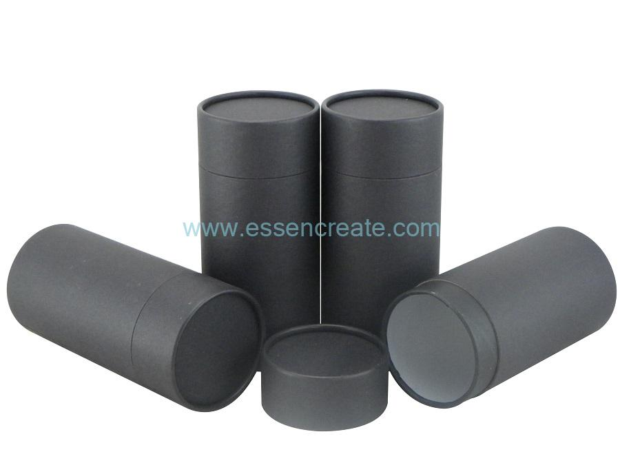 Cardboard Rolled Edge Black Special Fancy Paper Tube