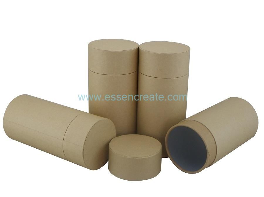 Brown Flat Edge Paper Tube Packaging for Tea