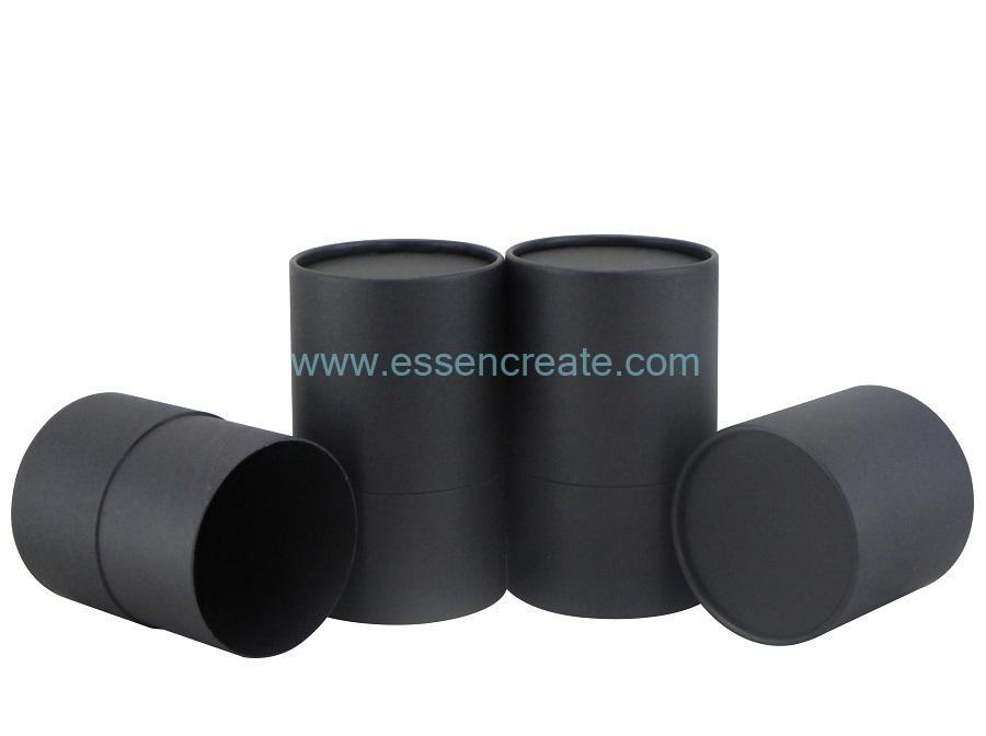 Gift Packaging Complete Black Rolled Edge Paper Tube