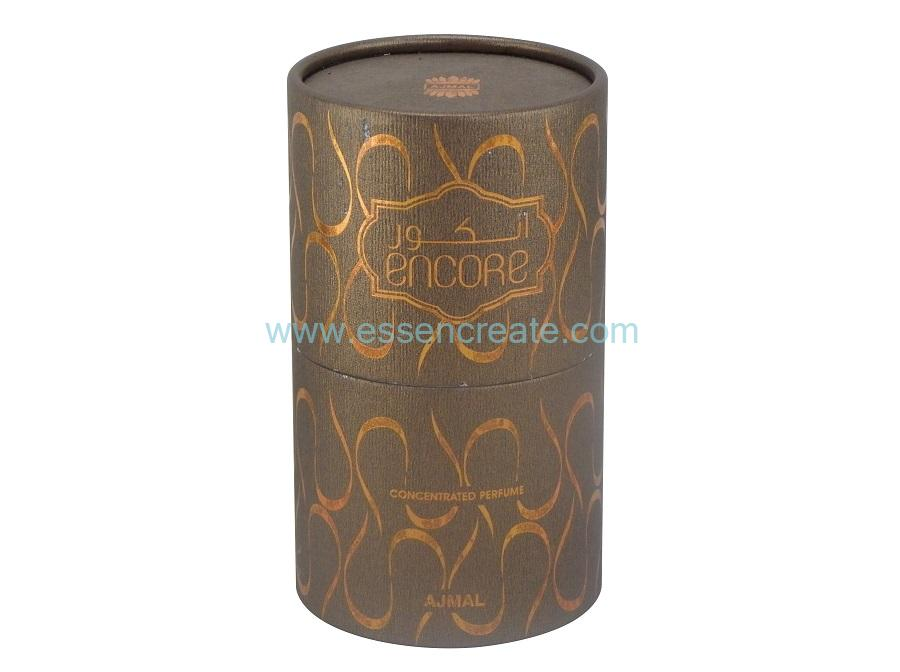 Paper Hot Stamping Rolled Edge Perfume Packaging Tube