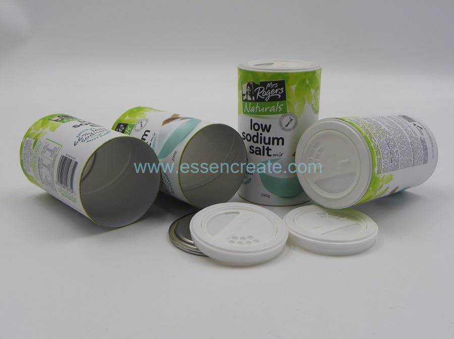 Round Salt Packaging Canister