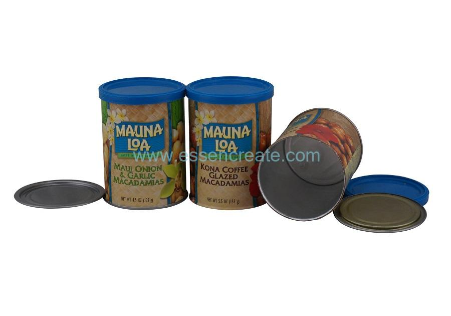 Macadamia Nuts Packaging Paper Canister