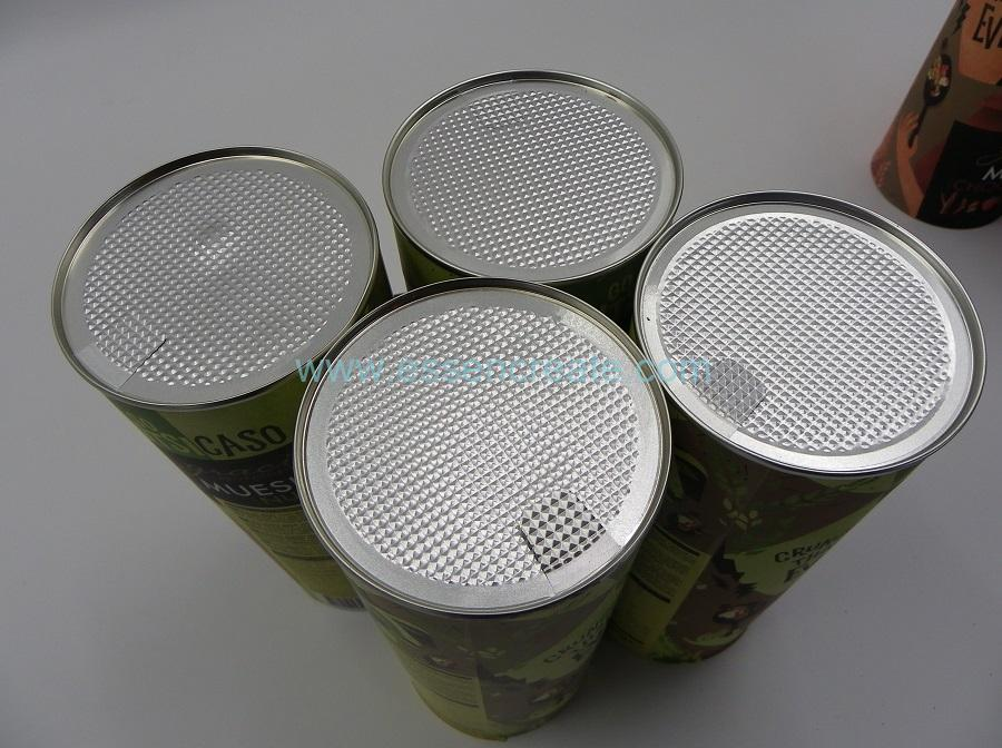 Ground Oats Packaging Paper Canister