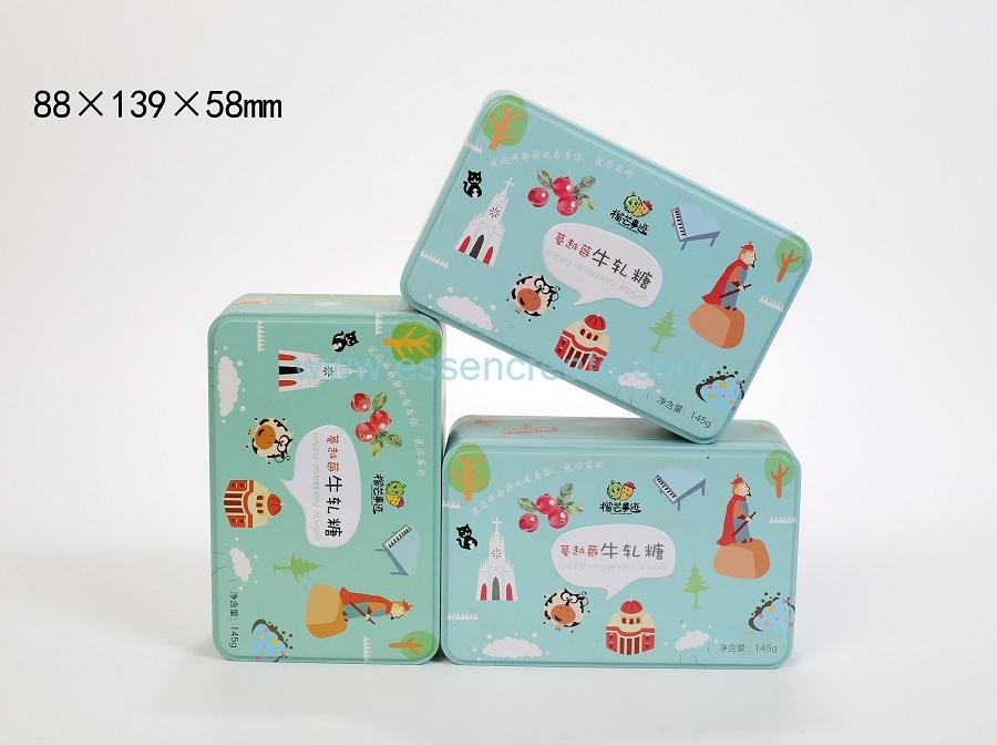 Square Sweet Tin Box