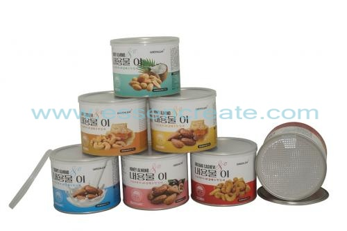 Almond Canister Packaging Paper Tube
