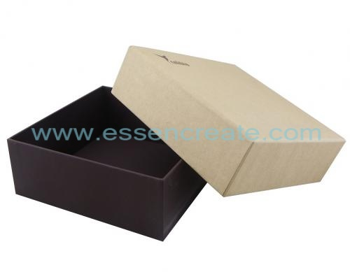 Perfume gift packaging brown kraft paper box