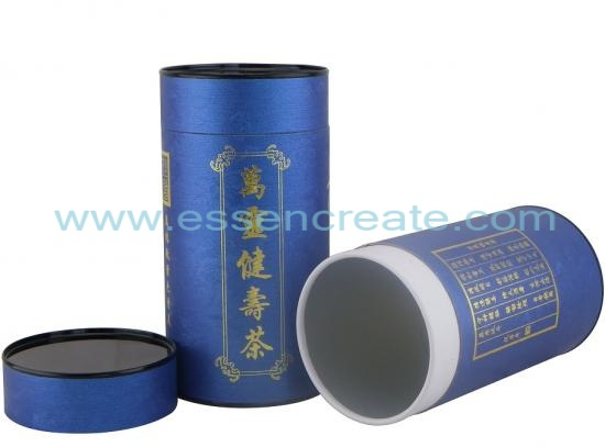 Rolled Edge Paper Tube with Tin Lid