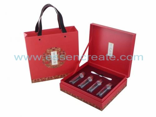 Glass Bottles and Spoon Packaging Gift Box