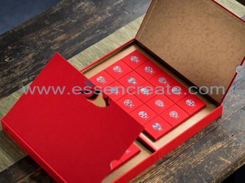 Folio Bookshape Box for Tea Packaging