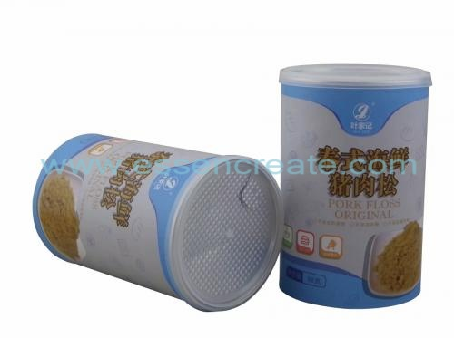 Meat Floss Packaging Paper Canister