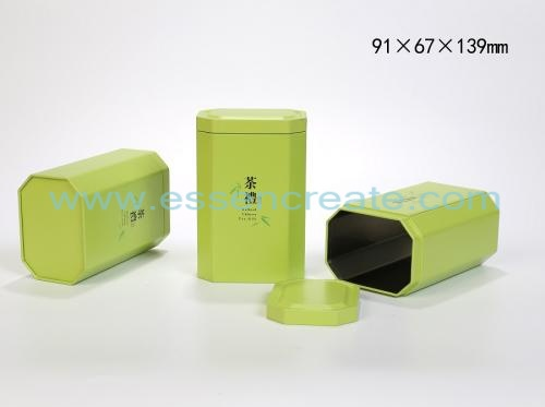 Octagonal Metal Cans Tea Tin Box