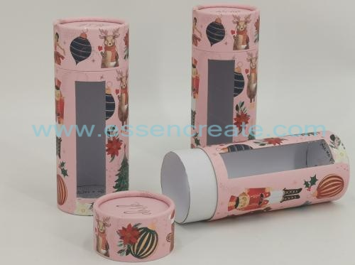 Cardboard Candle Packaging Tube with Window